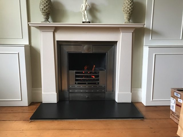 Made-to-Measure Decorative Gas Fire fitted to existing Hob Grate Fireplace