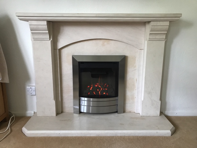 New Balanced Flue Gas Fire fitted to existing Stone Fireplace